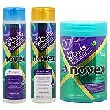 Novex My Curls Memorizer Shampoo & Conditioner 10.14oz & Deep Hair Care Cream 35.3oz Set by Novex
