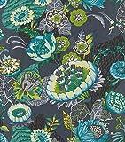 rasch Tapete 803648 aus der Kollektion Lucy in the Sky – Vliestapete mit buntem, fantasievollem Blumen-Muster – 10,05m x 53cm (L x B)