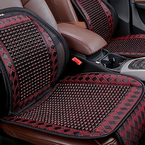 Vier Jahreszeiten Auto Kissen Holz Perle Auto Sitzbezug Breathable Massage 5 Sitze (6 Farben erhältlich) ( Farbe : D ) (Perlen Sitz-kissen)