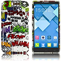 Alcatel One Touch Pop C9 silicone COMIC HAHA case Cabina Telefonica smartphone bumper Flip bag Cover protection thematys®