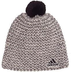 Adidas Climaheat - Berretto di lana lavorato a maglia da donna, grigio (Pearl Grey S14/Black/Black), Taglia unica