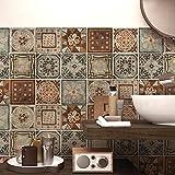 wall art (Confezione 24 Pezzi) Adesivi per Piastrelle Formato 20x20 cm - Made in Italy - PS00167 Adesivi in PVC per Piastrelle per Bagno e Cucina Stickers Design - Cancun