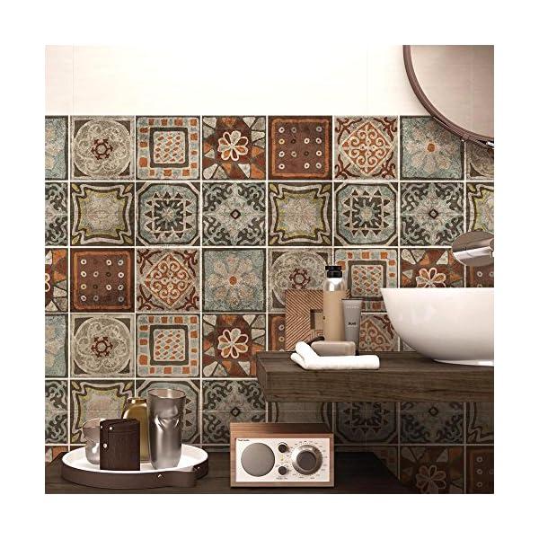 Wall art ps00167 adesivi in pvc per piastrelle per bagno e for Piastrelle in pvc adesive per cucina