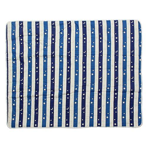 Jeteven Baby matratzenauflage wasserdicht 80x120cm- Wickelauflage-betteinlage-Inkontinenz-Matratzenauflage für Baby Kleinkind Erwachsene Blauer Himmel (Weiche Wärme-matratze-auflage)