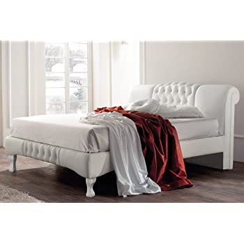 Sleep Design Knightsbridge Swan Elegant Designer White Faux Leather ...