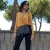 Petit sac à main femme bandoulière Noir Artisanat Italien