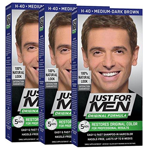 Just for Men Shampoo-In Hair Color, Medium-Dark Brown 40, 1 Application,