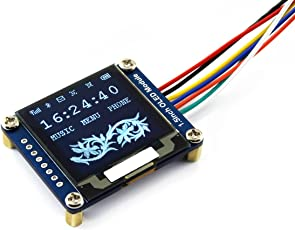 Waveshare 1.5inch OLED Display Module 128x128 Pixels 16-Bit Grey Level with Embedded Controller Communicating Via SPI or I2C Interface.