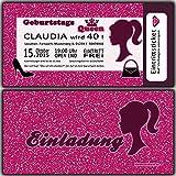 Einladungskarten zum Geburtstag Party Feier Shopping Girls Einladung Girl Frauen Frau Mädchen + Gratis Design Brief-umschläge - 30 Stück