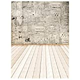 #1: Segolike 3x5ft Bar Party Room Studio Wall Decoration Photography Backdrop Photo Background Props Retro Paper Wall