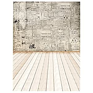 Segolike 3x5ft Bar Party Room Studio Wall Decoration Photography Backdrop Photo Background Props Retro Paper Wall