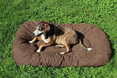 Hundebett XL Braun, Hundesofa, Hundekorb Baumwolle 120 cm x 75 cm x 15 cm