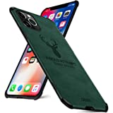 EUDTH iPhone 11 Pro Max Case, Ultra-thin Matte Leather Back Case [Air Cushion] Silicone Soft Edge Shockproof Full Body Protec