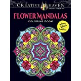 Creative Haven Flower Mandalas Coloring Book: Stunning Designs on a Dramatic Black Background (Creative Haven Coloring Books)