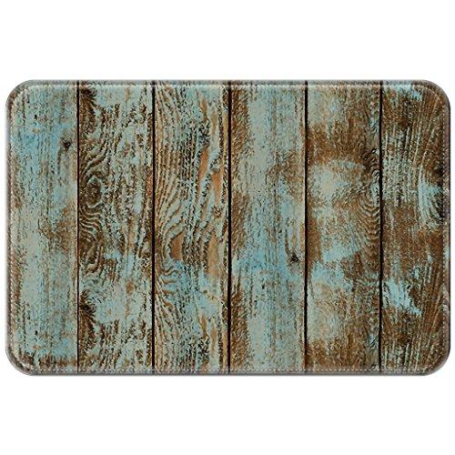 Preisvergleich Produktbild Violetpos Fußmatte Jahrgang Holz Fußmatten Mat für Innen & Außen 45 x 75 cm