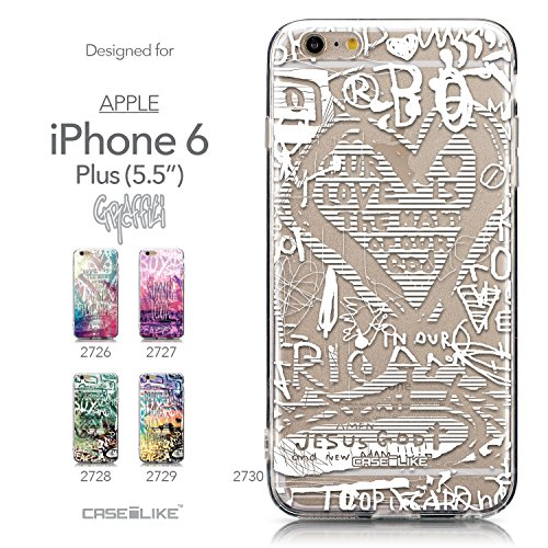 CASEiLIKE Comic Beschriftung 2914 Ultra Slim Back Hart Plastik Stoßstange Hülle Cover for Apple iPhone 6 / 6S Plus (5.5 inch) +Folie Displayschutzfolie +Eingabestift Touchstift (Zufällige Farbe) 2730