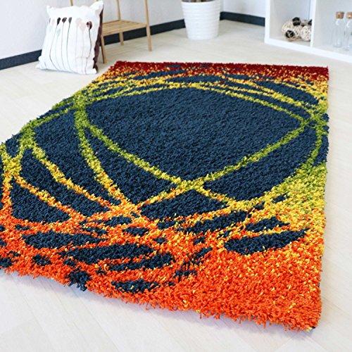 chflor Teppich mit Multi Farben Muster in 5 verschiedenen Grössen bunt farbig für Wohnzimmer und Jugendzimmer mit Öko-Tex (200 x 290 cm) ()