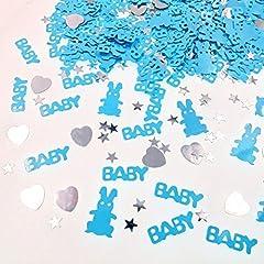 Idea Regalo - JZK® 2 Confezioni coriandoli blu battesimo bambino decorazione tavolo compleanno nascita battesimo comunione baby shower festa bimbo neonato