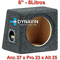 "Caja acústica universal para subwoofer de 8"" (200mm), 10"" (250mm), 12"" (300mm), 15"" (380mm), 18"" (450mm) (8"", Gris Oscuro)"