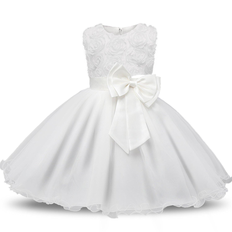 da21d71ea6ce HomePrima infanziaNNJXD Ragazza Gonna a Fiori in Pizzo 3D Senza Maniche Vestito  da Principessa delle Feste. 🔍. Prima infanzia