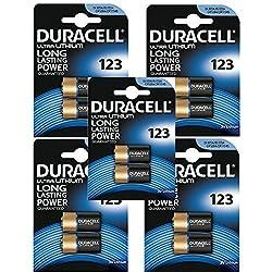 DURACELL CR123 LOT DE 10 PILES SOUS BLISTER 3V AU LITHIUM