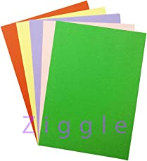 Ziggle A4 Size pastel Sheets Paper colored paper Sheets for Art and Craft 5 colors (Pack of 40 sheets)