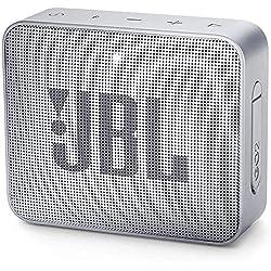 JBL GO 2 Mini Enceinte Portable - Étanche pour Piscine & Plage IPX7 - Autonomie 5hrs - Qualité Audio, Bluetooth, Gris