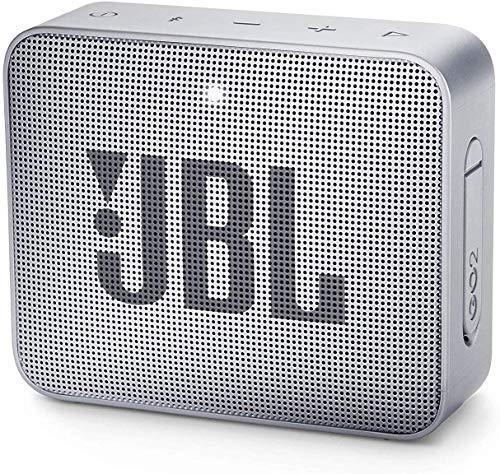 JBL GO 2 kleine Musikbox - Wasserfester, portabler Bluetooth-Lautsprecher mit Freisprechfunktion - Bis zu 5 Stunden Musikgenuss mit nur einer Akku-Ladung Grau