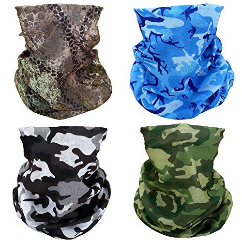 Wls 4x camouflage camo elastico senza cuciture copricapo bandana mezza maschera viso sciarpa collo uv protezione solare antivento antipolvere moto bici airsoft paintball caccia pesca escursioni
