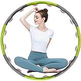 DUTISON Hula Hoop Fitness voor gewichtsvermindering, zacht 8-delig, afneembaar design, EVA-schuim, gevoerd met mini-bandmaat