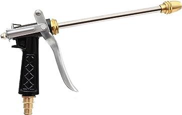 GOCART Metal Copper Head Long Brass Washer Nozzle (Black, Medium)