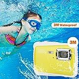 DIDseth Digitalkamera   Minikamera mit 12MP HD 5 MP CMOS Sensor, Kinderkamera HD 720p Videofunktion - Wasserdicht bis 3 Meter Gelb … - 3