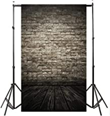 Indeals Photography Background 2018 Hotsale Vinyl Wood Wall Floor Photography Studio Prop Backdrop Background 3x5FT (A)