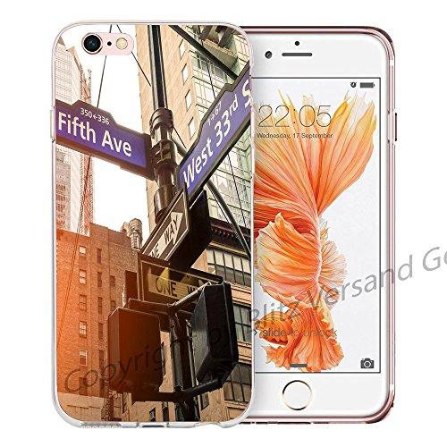 blitzversand Handyhülle New York USA kompatibel für Samsung Galaxy A5 2017 Fifth Avenue Schutz Hülle Case Bumper transparent M5