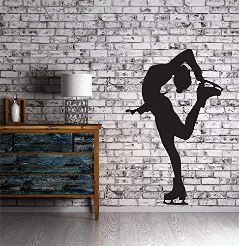 pegatinas de pared infantiles Gran silueta deportista patinaje artístico