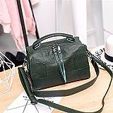 WanJiaMen'Shop Spalla singolo croce obliqua Sacca donna casual borsetta semplice borsa a tracolla, 27 * 14 * 17cm, verde