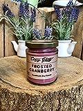 Frosted Cranberry vela de soja por acogedor resplandor 30horas de combustión/6,8onza Jar
