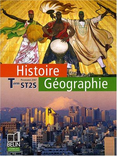 Histoire Gographie Tle ST2S