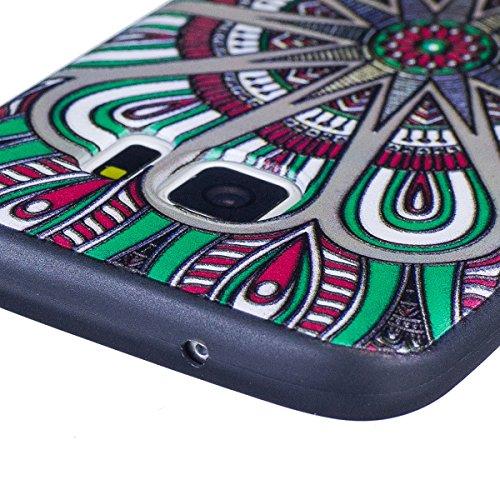 Coque Galaxy S7, Étui Galaxy S7, ISAKEN Coque Samsung Galaxy S7 - Étui Housse Téléphone Étui TPU Silicone Souple Coque Ultra Mince Gel Doux Housse Motif Arrière Case Antichoc Doux Durable Résistant Au Mandala