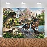Mehofoto Dinosaur Tema Scenografia 7x5ft Fondali in vinile di compleanno per i bambini del partito decorazioni senza saldatura di fondo fotografico