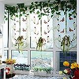 Tendine verticali in tulle con farfalle ricamate, per porte, finestre, balconi, decorazione per la casa, x 100 cm
