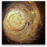 Oil Painting Abstract Modern Wall Decor Contemporary Art on Canvas Gold Swirl - Matthew's Art Gallery - amazon.co.uk