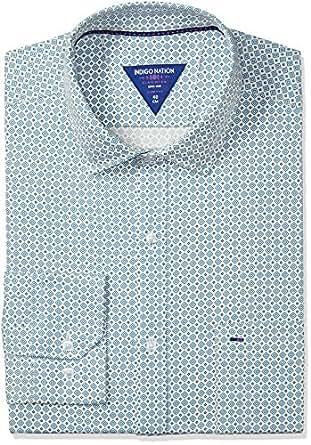 Indigo Nation Men's Dress Shirt (8907372381992_1ISE2052_Off White_42)