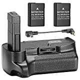 Neewer® Professionelle vertikale Batteriegriff mit 2-Pack 7,4V 1200 mAh Ersatz-EN-EL14 Batterien für Nikon D3100 D3200 D3300 Kameras