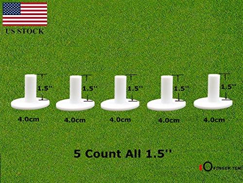 Finger Ten Tees de Golf en Caoutchouc Conduite Gamme Valeur Lot de 5, Tapis de Dimensions...