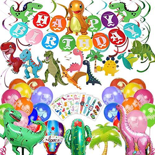HANGNUO Dinosaurier Geburtstag Party Dekoration Dschungel Jurassic Party Pack Supplies Dinosaur Decoration