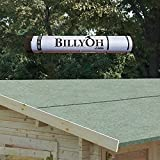 BillyOh Premium IKO Green Mineral Shed Roofing Felt 10m x 1m roll with Fixings - CHEAPEST in UK