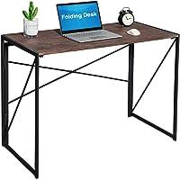 Coavas Bureau pour Ordinateur Pliable en Bois et Métal Large Surface (100x50x72 cm) Table PC pour Enfants Adultes Gaming…