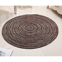 Superfine cuerda tejida silla de computadora / silla de ratán cesta de alfombra redonda / sala alfombra dormitorio ( Color : 2# , Tamaño : Diameter 100cm )