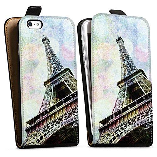 Apple iPhone X Silikon Hülle Case Schutzhülle Eiffelturm Paris Frankfreich Downflip Tasche schwarz